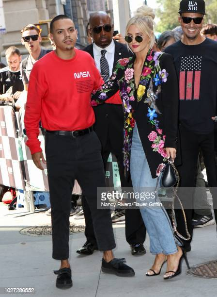 Ashlee Simpson and Evan Ross are seen on September 05 2018 in New York City