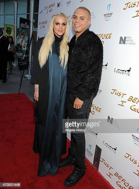 Ashlee Simpson and Evan Ross attend the Los Angeles Special Screening of 'Just Before I Go' at ArcLight Hollywood on April 20 2015 in Hollywood...
