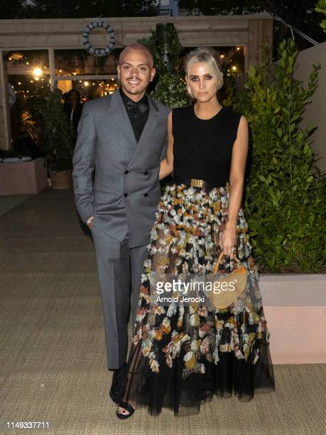 Ashlee Simpson and Evan Ross during the 72nd annual Cannes Film Festival at on May 15, 2019 in Cannes, France.