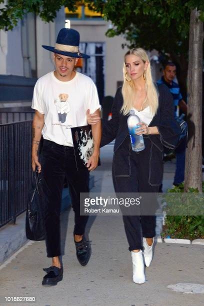 Ashlee Simpson and Evan Ross seen out and about in Manhattan on August 17 2018 in New York City