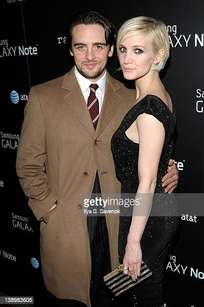 Ashlee Simpson and her boyfriend Vincent Piazza attend the 'Fashion Take Note Studio' Valentine's Day Event at Dream Downtown on February 14 2012 in...