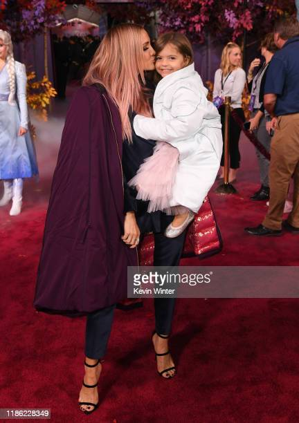 Ashlee Simpson and Jagger Snow Ross attend the premiere of Disney's Frozen 2 at Dolby Theatre on November 07 2019 in Hollywood California