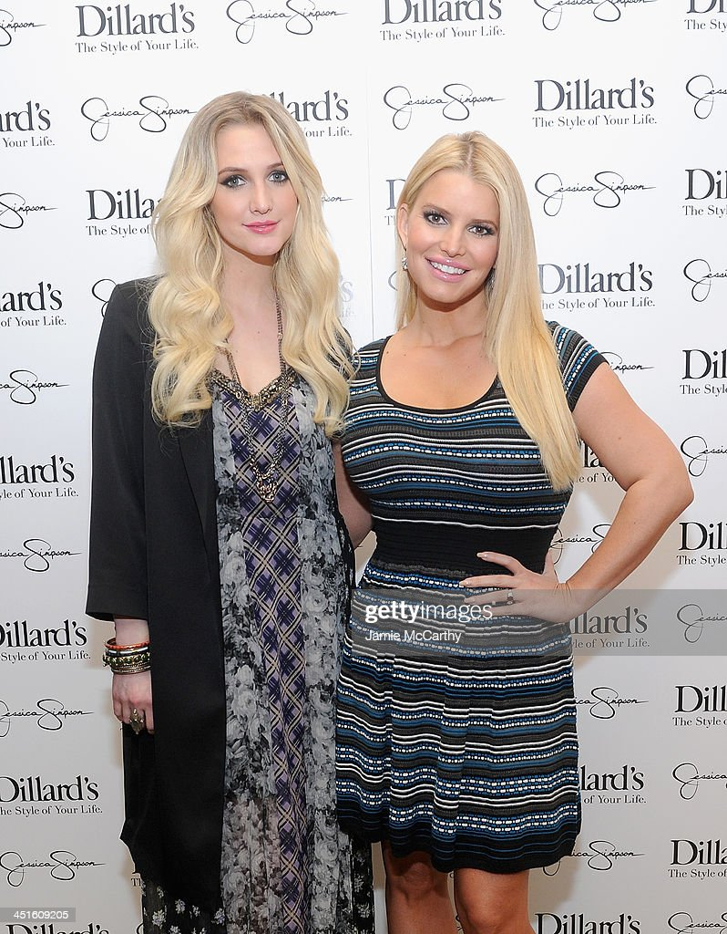 Jessica And Ashlee Simpson Host Jessica Simpson Collection Event At Dillard's NorthPark Center : News Photo