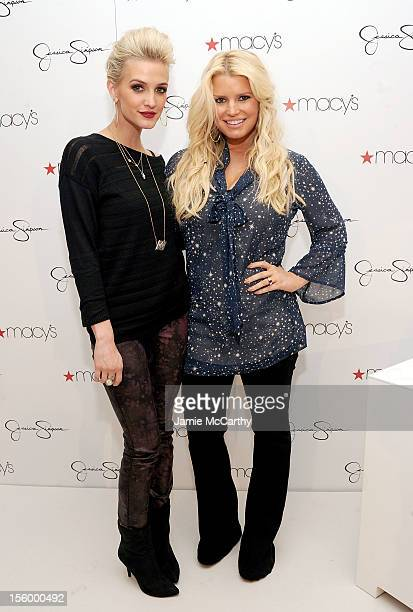 19a38f67c646 Ashlee Simpson and Jessica Simpson visit Macy's South Coast Plaza in  support of the Jessica Simpson