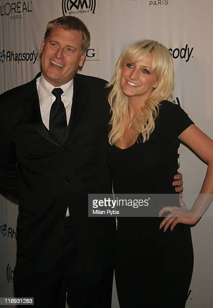Ashlee Simpson and Joe Simpson during 2006 Grammy Awards - Clive Davis Party at Beverly Hilton Hotel in Beverly Hills, California, United States.