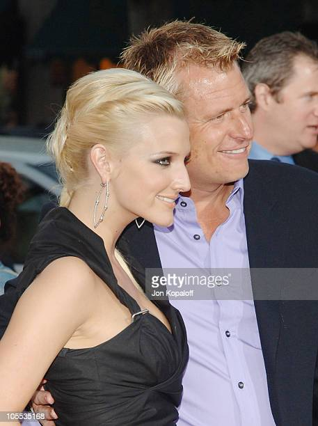"""Ashlee Simpson and Joe Simpson during """"Undiscovered"""" Los Angeles Premiere - Arrivals at Egyptian Theater in Hollywood, California, United States."""