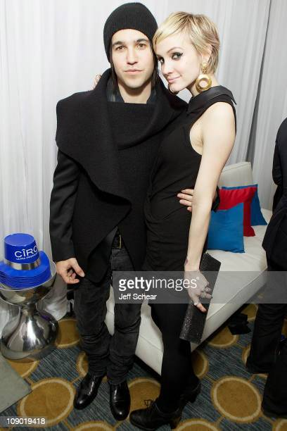 Ashlee Simpson And Pete Wentz Celebrate New Year's Eve 2011 on December 31, 2010 in Chicago, Illinois.