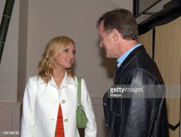 Ashlee Simpson and Stephen Collins during 2003 WB UpFront After Party at Chelsea Piers in New York City New York United States