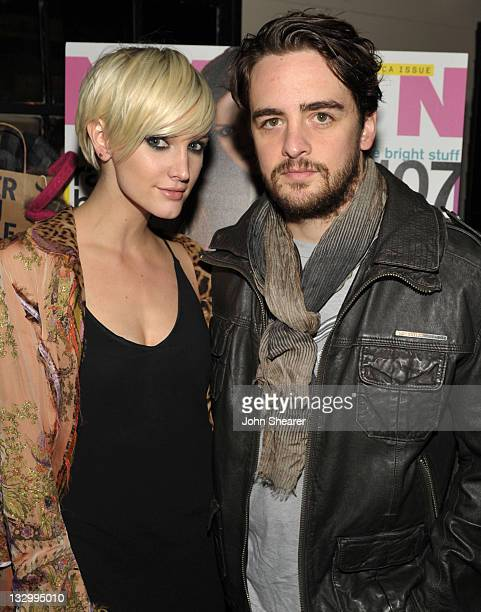 Ashlee Simpson and Vincent Piazza attend NYLON Magazine And American Eagle November Issue Celebration With Cover Star Rachel Bilson at Sherbourne on...