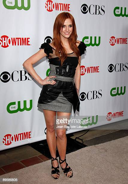 Ashlee Simpson arrives at the 2009 TCA Summer Tour CBS CW and Showtime AllStar Party at the Huntington Library on August 3 2009 in Pasadena California