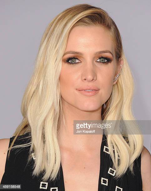 Ashlee Simpson arrives at the Los Angele Premiere The Hunger Games Mockingjay Part 1 at Nokia Theatre LA Live on November 17 2014 in Los Angeles...