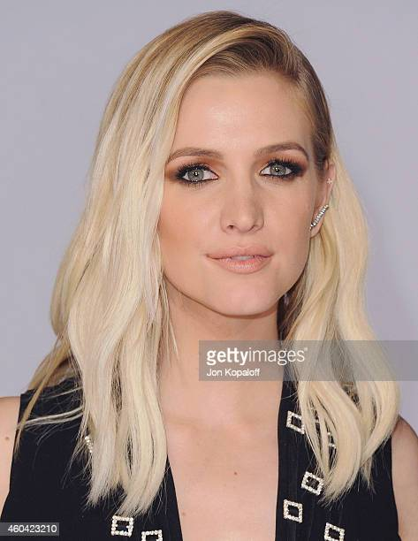 Ashlee Simpson arrives at the Los Angele Premiere 'The Hunger Games Mockingjay Part 1' at Nokia Theatre LA Live on November 17 2014 in Los Angeles...