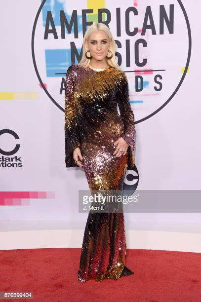 Ashlee Simpson attends 2017 American Music Awards at Microsoft Theater on November 19 2017 in Los Angeles California