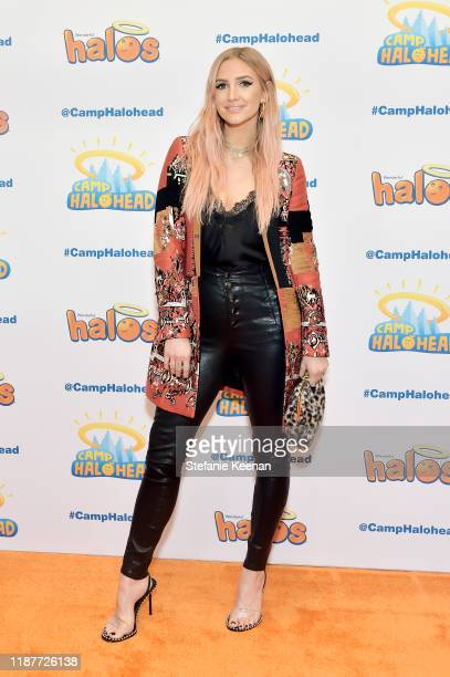 """Ashlee Simpson attends """"Camp Halohead"""" Animated Entertainment YouTube Series Launch Party at Cayton Children's Museum on November 14, 2019 in Santa..."""