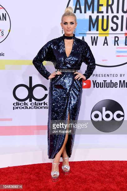Ashlee Simpson attends the 2018 American Music Awards at Microsoft Theater on October 9 2018 in Los Angeles California