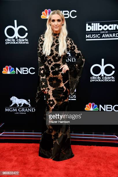Ashlee Simpson attends the 2018 Billboard Music Awards at MGM Grand Garden Arena on May 20 2018 in Las Vegas Nevada