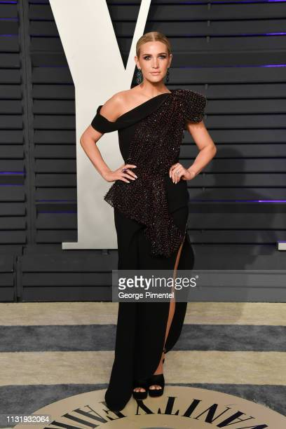 Ashlee Simpson attends the 2019 Vanity Fair Oscar Party hosted by Radhika Jones at Wallis Annenberg Center for the Performing Arts on February 24...