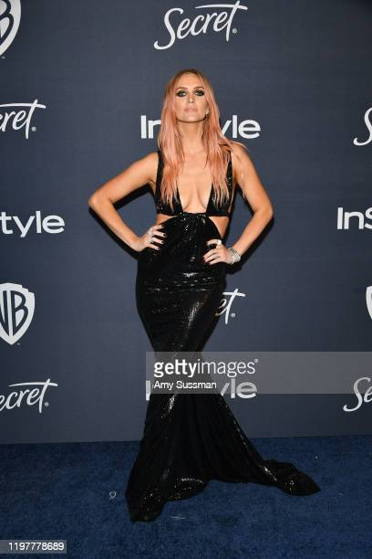 Ashlee Simpson attends the 21st Annual Warner Bros. And InStyle Golden Globe After Party at The Beverly Hilton Hotel on January 05, 2020 in Beverly...