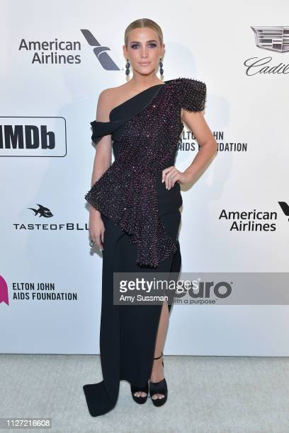Ashlee Simpson attends the 27th annual Elton John AIDS Foundation Academy Awards Viewing Party celebrating EJAF and the 91st Academy Awards on...