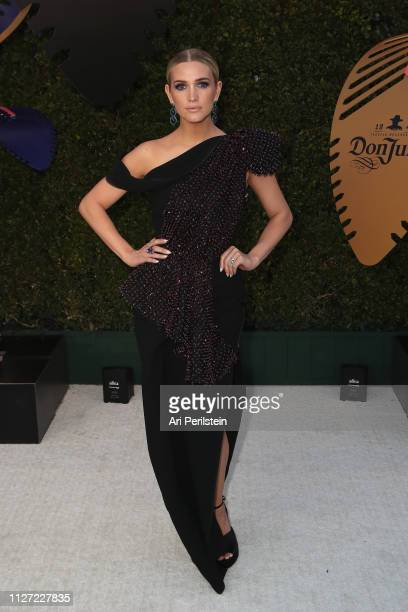 Ashlee Simpson attends the 27th annual Elton John AIDS Foundation Academy Awards Viewing Party celebrating EJAF and the 91st Academy Awards with...