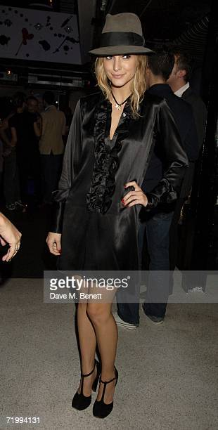 Ashlee Simpson attends the after party following her British stage debut playing Roxie Hart in longrunning musical Chicago at Sound on September 25...