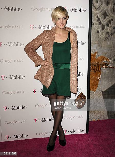 Ashlee Simpson attends the launch of Google Music at Mr Brainwash Studios on November 16 2011 in Los Angeles California