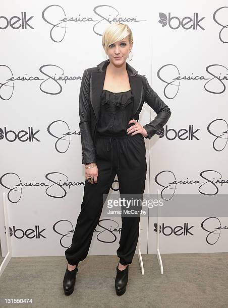Ashlee Simpson attends the launch of Jessica Simpson Girls at Belk Crabtree Valley Mall on November 5 2011 in Raleigh North Carolina