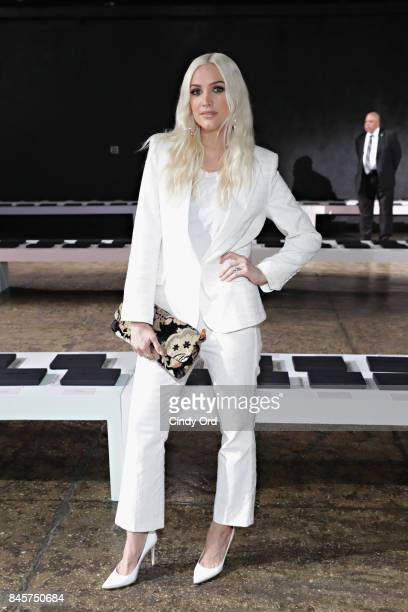Ashlee Simpson attends the Zadig Voltaire September 2017 fashion show during New York Fashion Week at Cedar Lake on September 11 2017 in New York City