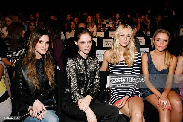 Ashlee Simpson Coco Rocha Poppy Delevingne and Katrina Bowden attend the BCBG Max Azria Spring 2011 fashion show during MercedesBenz Fashion Week at...