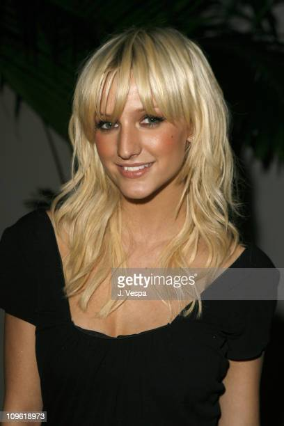 Ashlee Simpson during 2006 Clive Davis PreGRAMMY Awards Party Red Carpet at Beverly Hilton in Beverly Hills California United States