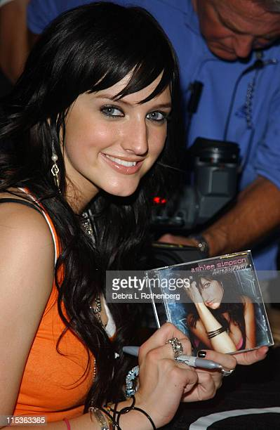 Ashlee Simpson during Ashlee Simpson Signs Copies of her New CD Autobiography at Times Square Virgin Megastore in New York City New York United States