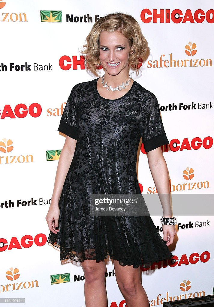 Ashlee Simpson during Chicago the Musical Celebrates its 10th Anniversary on Broadway - Arrivals at Ambassador Theater in New York City, New York, United States.