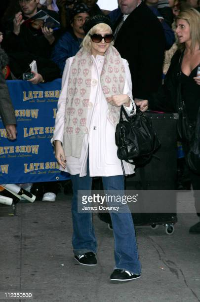 """Ashlee Simpson during George Clooney and Ashlee Simpson Visit the """"Late Show with David Letterman"""" - November 21, 2005 at Ed Sullivan Theatre in New..."""