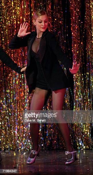 Ashlee Simpson makes her British stage debut playing Roxie Hart in longrunning musical Chicago at Cambridge Theatre on September 25 2006 in London...