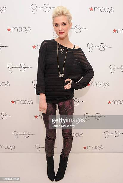 Ashlee Simpson visits Macy's South Coast Plaza in support of the Jessica Simpson and Jessica Simpson Girls Collections on November 10 2012 in Costa...
