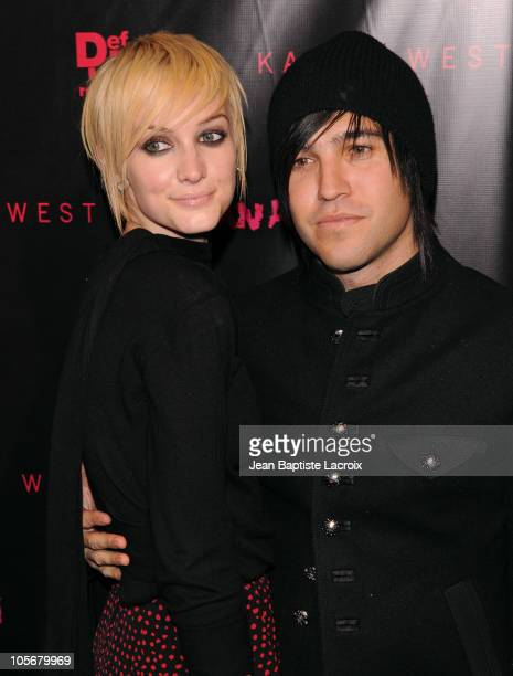 Ashlee SimpsonWentz and Pete Wentz arrive at the Los Angeles premiere of Runaway held at Harmony Gold Theatre on October 18 2010 in Los Angeles...