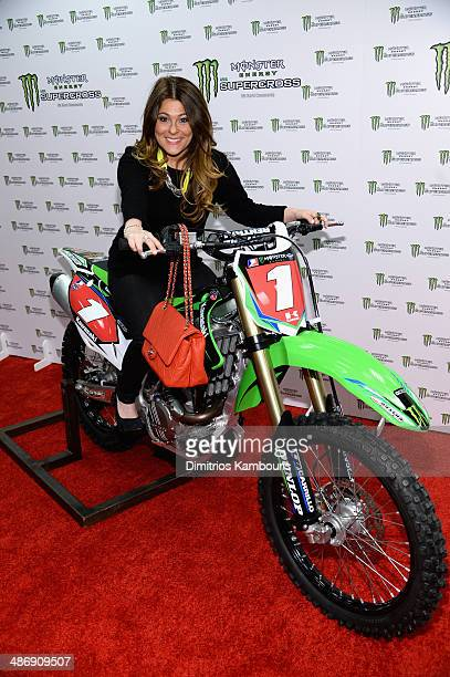 Ashlee White of Princesses Long Island attends the Monster Energy SuperCross World Championship Race at MetLife Stadium on April 26 2014 in East...
