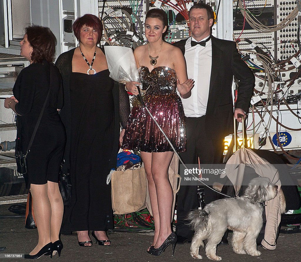Ashleigh and Pudsey sighting on November 19, 2012 in London, England.