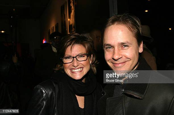 Ashleigh Banfield and Chad Lowe during Opening Night of Bridge and Tunnel OffBroadway at 45 Bleeker Theater in New York New York United States