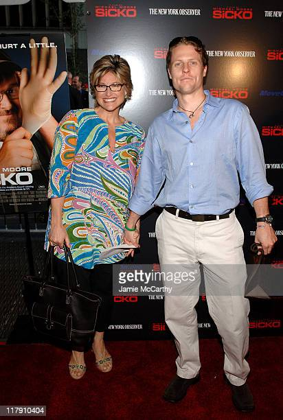 Ashleigh Banfield and guest during Sicko New York Premiere Arrivals at Ziegfeld Theatre in New York City New York United States