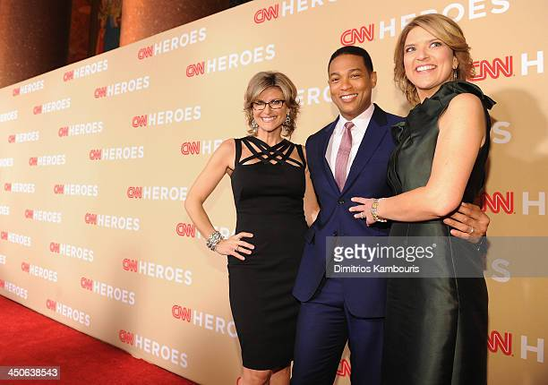 Ashleigh Banfield Don Lemon and Christine Romans attend 2013 CNN Heroes An All Star Tribute at the American Museum of Natural History on November 19...