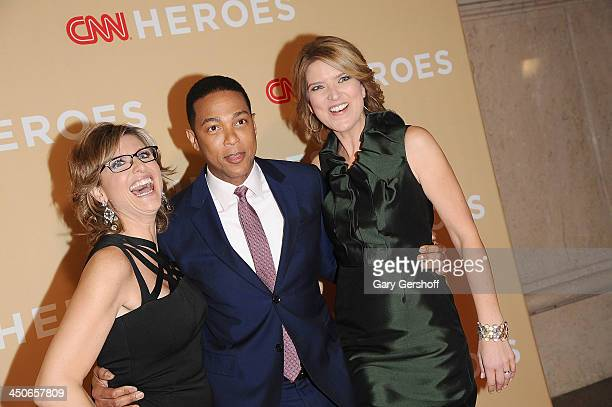 Ashleigh Banfield Don Lemon and Christine Romans attend the 2013 CNN Heroes An All Star Tribute at The American Museum of Natural History on November...