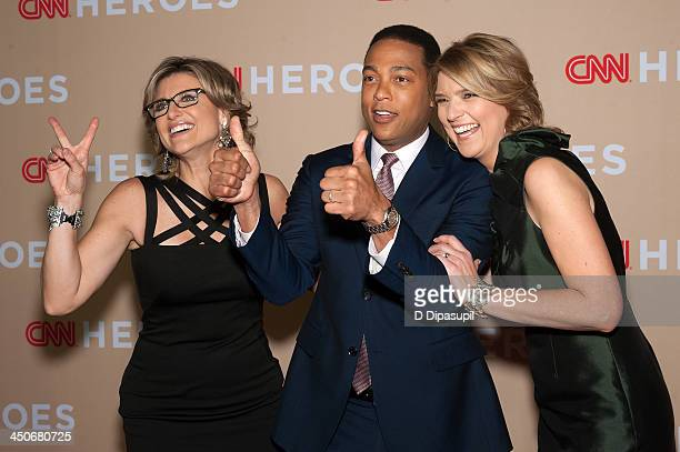 Ashleigh Banfield Don Lemon and Christine Romans attend the 2013 CNN Heroes at the American Museum of Natural History on November 19 2013 in New York...