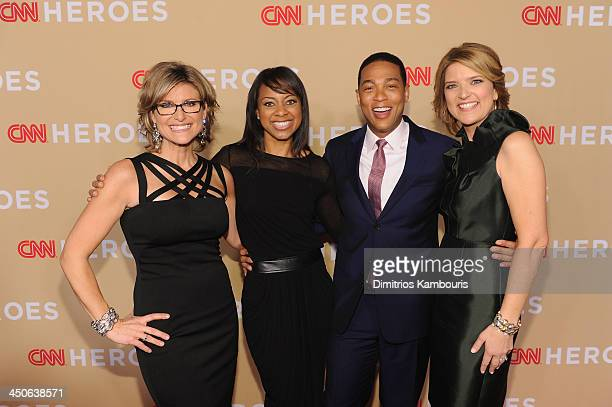 Ashleigh Banfield Nischelle Turner Don Lemon and Christine Romans attend 2013 CNN Heroes An All Star Tribute at the American Museum of Natural...
