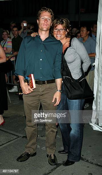Ashleigh Banfield {R} and Howard Gould during Fahrenheit 9/11 New York Screening Outside Arrivals at Ziegfeld Theater in New York City New York...