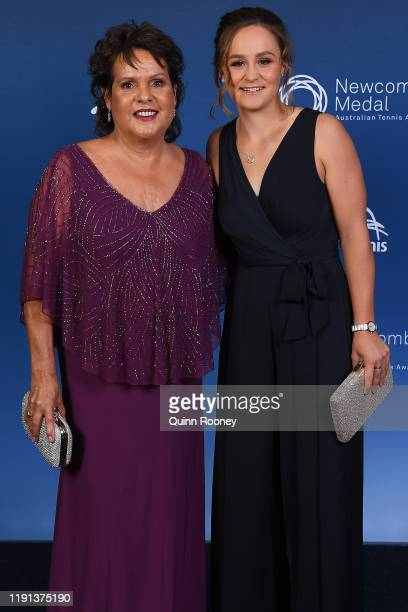 Ashleigh Barty and Evonne Goolagong Cawley arrive at the 2019 Newcombe Medal at Crown Palladium on December 02 2019 in Melbourne Australia