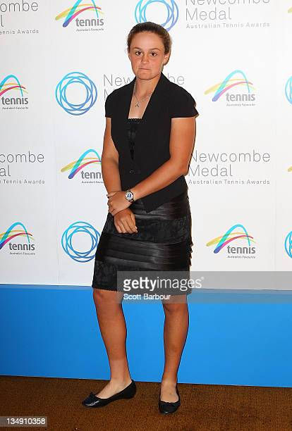 Ashleigh Barty arrives at the 2011 Newcombe Medal at Crown Palladium on December 5 2011 in Melbourne Australia