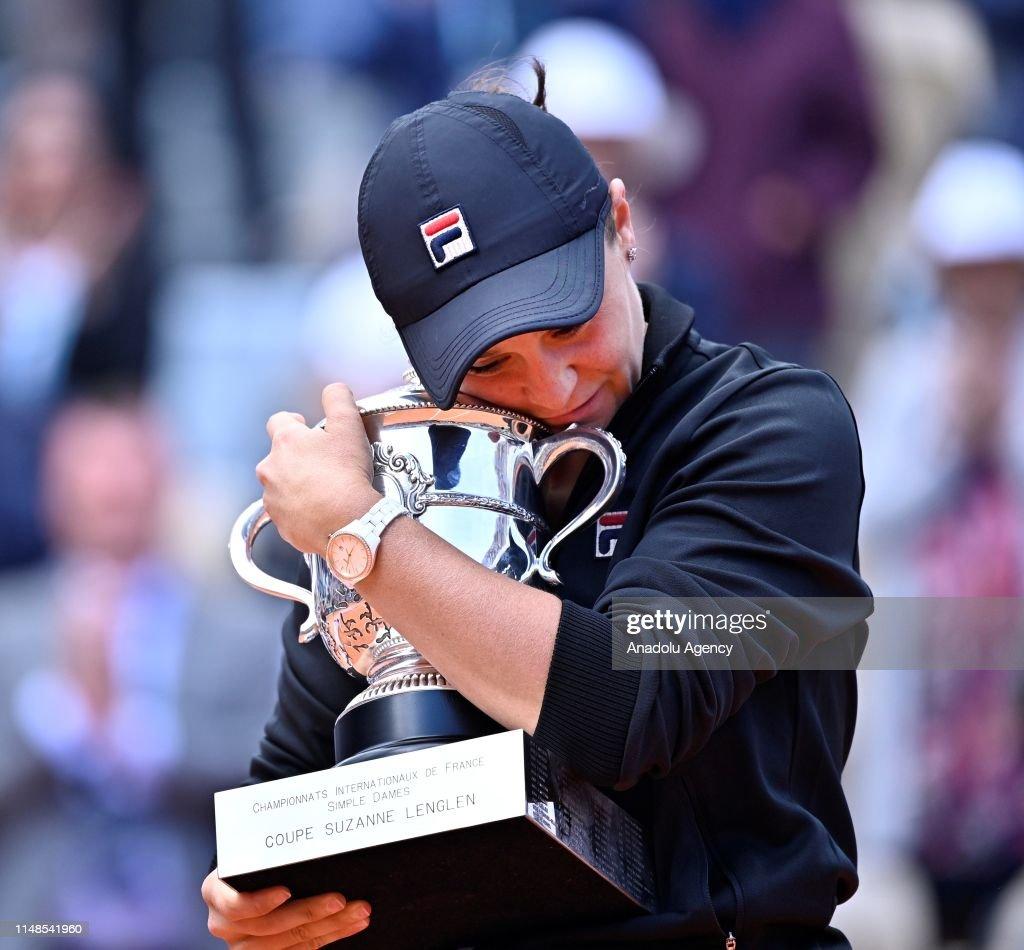 French Open 2019 womens final, Ashleigh Barty vs Marketa Vondrousova : News Photo