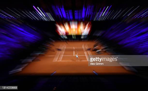 Ashleigh Barty of Australia serves the ball during the first semi final match between Ashleigh Barty of Australia and Elina Svitolina of Ukraine...
