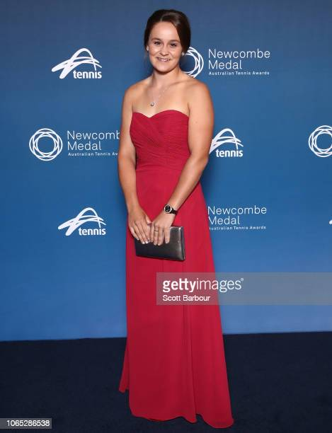 Ashleigh Barty poses ahead of the Newcombe Medal at Crown Entertainment Complex on November 26 2018 in Melbourne Australia